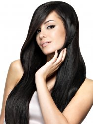 #1 Zwart, 50 cm, Double drawn Tape Extensions