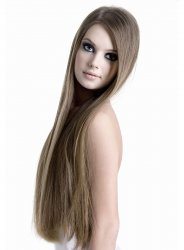 #10 Lichtbruin, 50 cm, Double drawn Tape Extensions