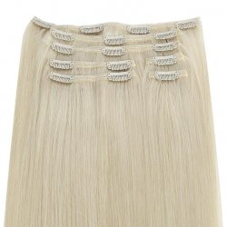 #6001 Extra lichtblond, 70 cm, Clip-in Extensions