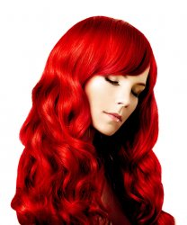 #Rood, 40 cm, Clip-in Extensions